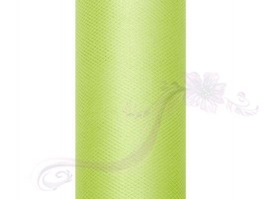Paris Dekorace Tyl v roli, sv. zelený 30cm/9m