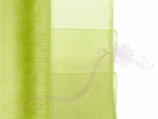 Paris Dekorace Organza obšitá světle zelená, 38cm/9m