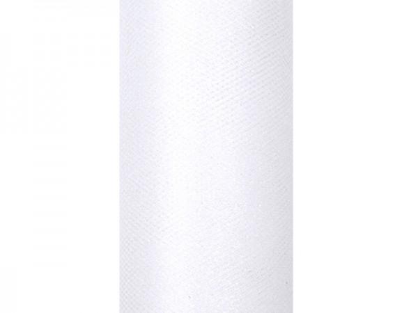 Paris Dekorace Tyl s lurexem bílý, 15cm/9m