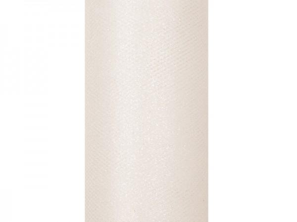 Paris Dekorace Tyl s lurexem, krémový, 15cm/9m