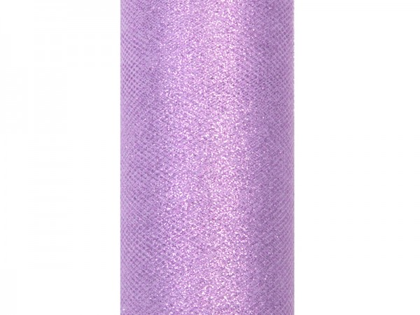 Paris Dekorace Tyl s lurexem, levandule, 15cm/9m