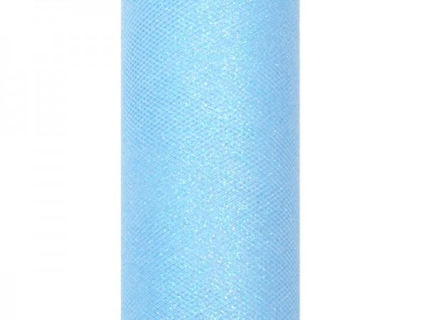 Paris Dekorace Tyl s lurexem, sv. modrý, 15cm/9m