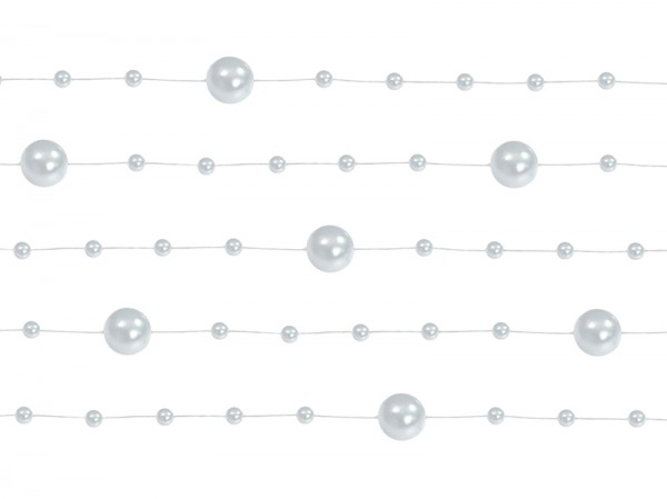 Paris Dekorace Girlanda perlová, stříbrná
