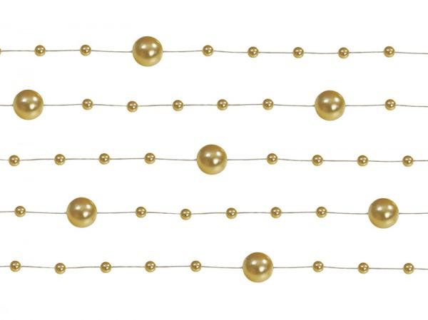 Paris Dekorace Girlanda perlová,  zlatá