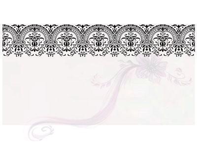 Paris Dekorace Svatební jmenovky na stůl s černým dekorem