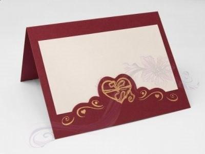 Paris Dekorace Svatební jmenovky na stůl - bordó