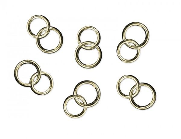 Paris Dekorace Aplikace snubních prstenů, zlaté