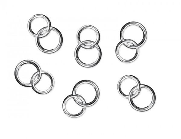 Paris Dekorace Aplikace snubních prstenů, stříbrná