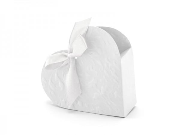 Paris Dekorace Krabička srdíčko bílé