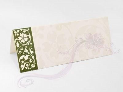 Paris Dekorace Svatební jmenovky na stůl s květinovým dekorem