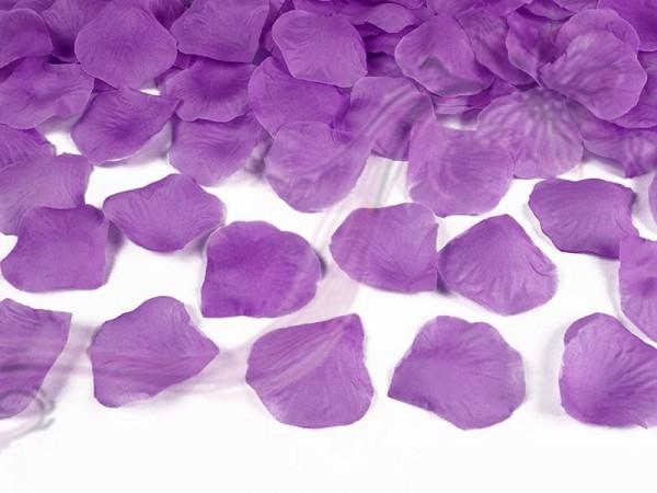 Paris Dekorace Plátky růží 100 kusů ve světlejší švestkové barvě