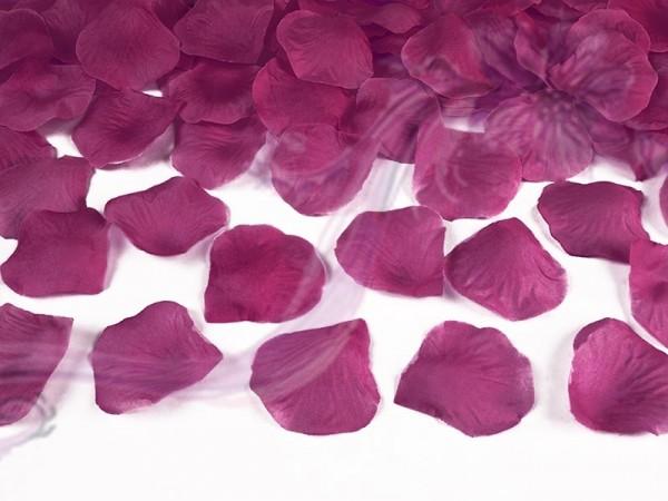 Paris Dekorace Plátky růží 100 kusů,tmavší fushia