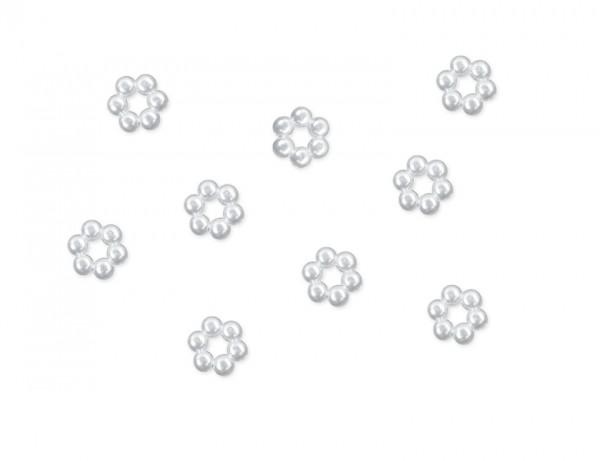 Paris Dekorace Aplikace perličkové kytičky 50 ks