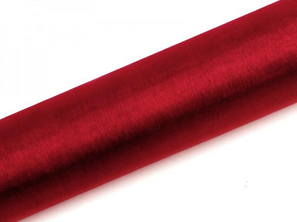 Paris Dekorace Organza hladká červená, 16cm/9m