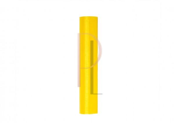 Paris Dekorace Organza hladká citrónová, 16cm/9m