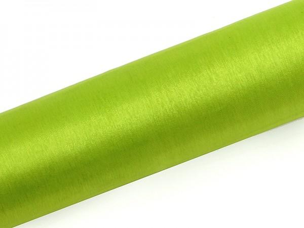 Paris Dekorace Organza hladká jasná zelená, 16cm/9m