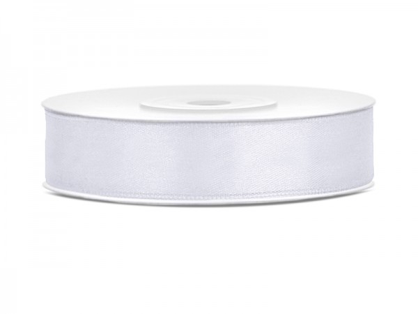 Paris Dekorace Saténová stuha bílá, šířka 12mm/25m