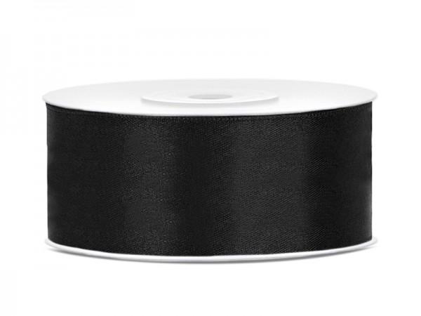 Paris Dekorace Saténová stuha černá, 25mm/25m