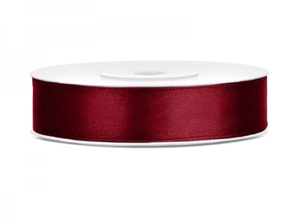 Paris Dekorace Saténová stuha  tmavě červená, 12mm/25m