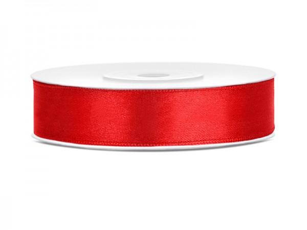 Paris Dekorace Saténová stuha  červená, 12mm/25m