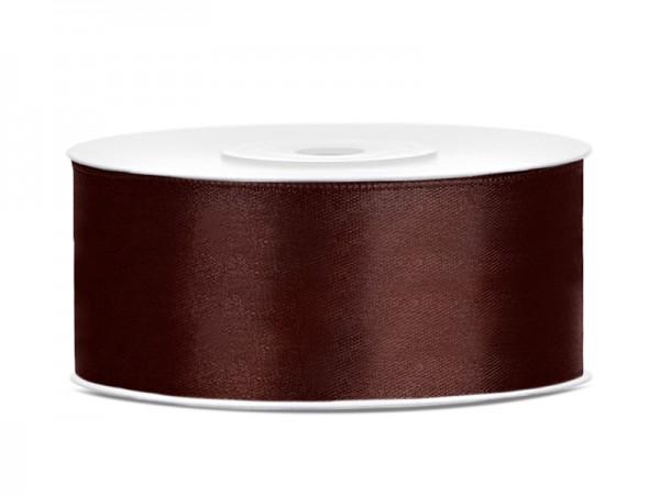 Paris Dekorace Saténová stuha hnědá, 25mm/25m