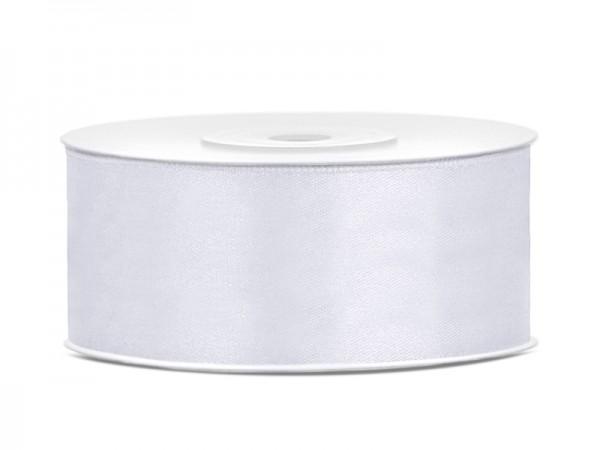 Paris Dekorace Saténová stuha bílá, 25mm/25m