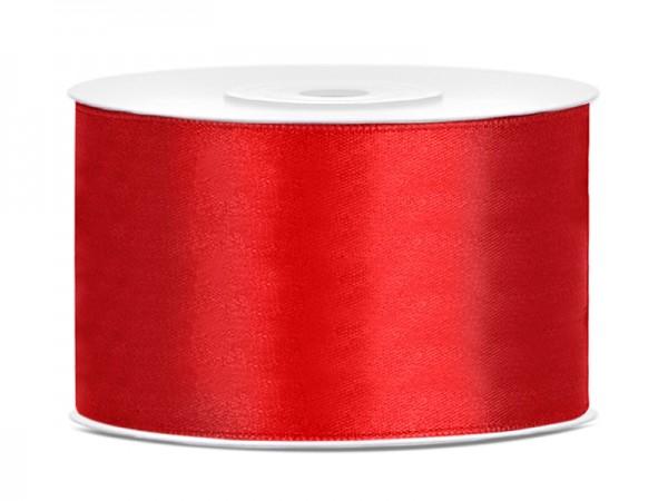 Paris Dekorace Saténová stuha  červená, 38mm/25m