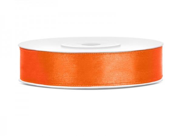 Paris Dekorace Saténová stuha  oranžová, 12mm/25m