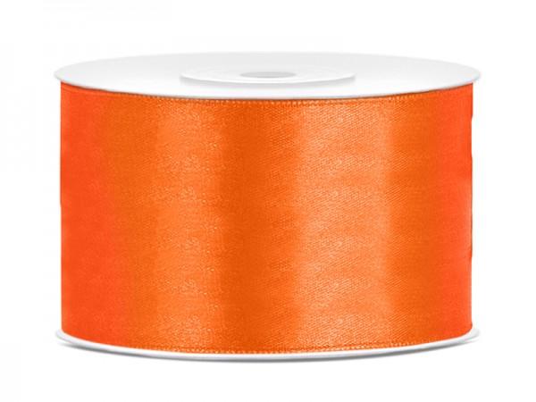 Paris Dekorace Saténová stuha  oranžová, 38mm/25m