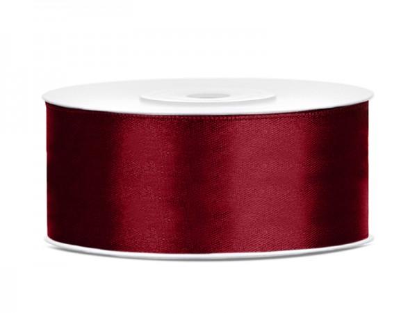 Paris Dekorace Saténová stuha  tmavě červená, 25mm/25y