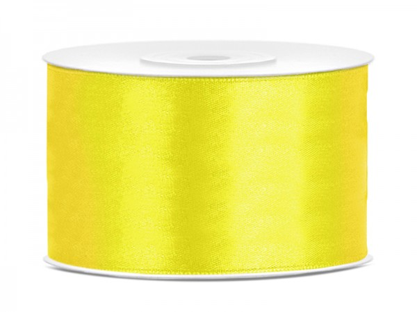 Paris Dekorace Saténová stuha  žlutá, 38mm/25m