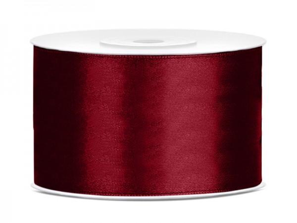 Paris Dekorace Saténová stuha  tmavě červená, 38mm/25y