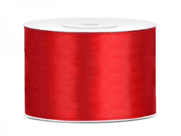 Paris Dekorace Saténová stuha  červená, 50mm/25m