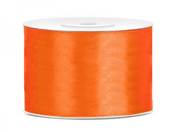 Paris Dekorace Saténová stuha  oranžová, 50mm/25m