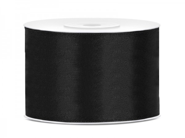 Paris Dekorace Saténová stuha černá, 50mm/25m