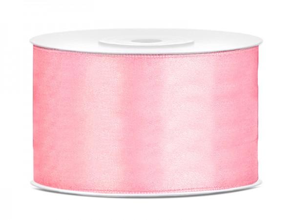 Paris Dekorace Saténová stuha světlá růžová, 38mm/25m