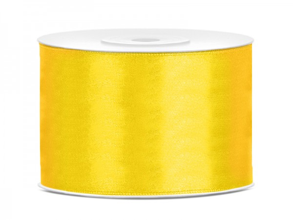 Paris Dekorace Saténová stuha  žlutá 50mm/25m