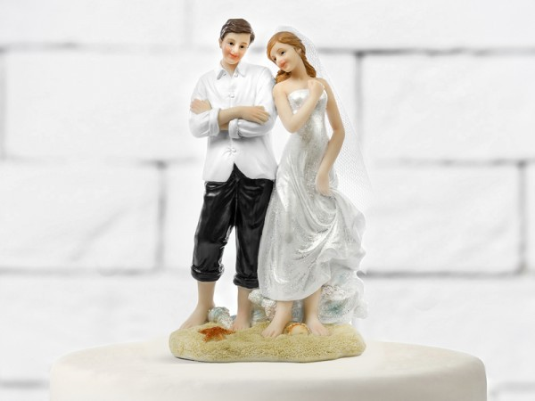 Paris Dekorace Figurka novomanželé pláž, 15,5cm