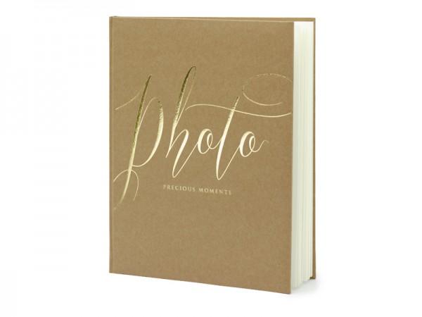 Paris Dekorace Svatební fotoalbum, přírodní
