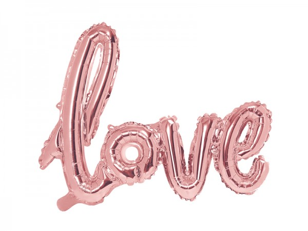 Paris Dekorace Balónek foliový LOVE, růžové zlato
