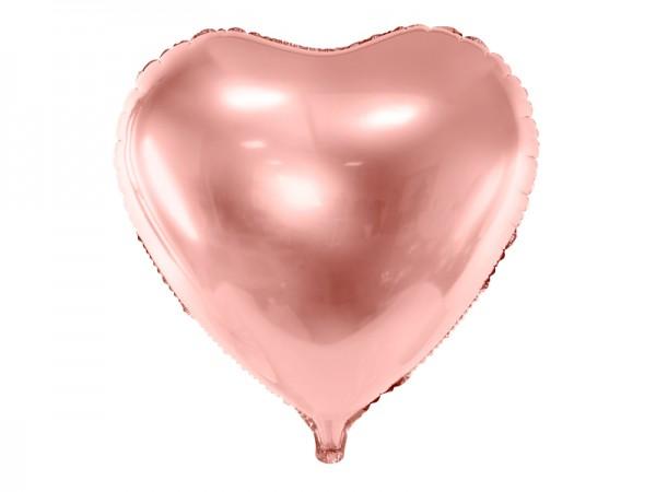 Foliový balónek srdce, růžové zlato 61 cm