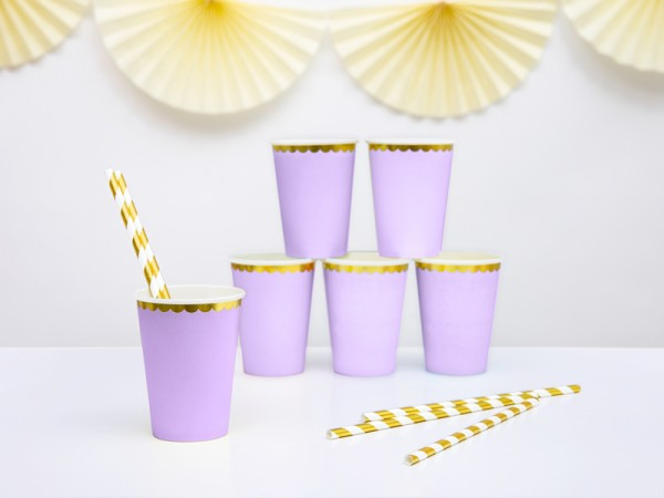 Cups, light lilac, 220ml (1 pkt / 6 pc.)