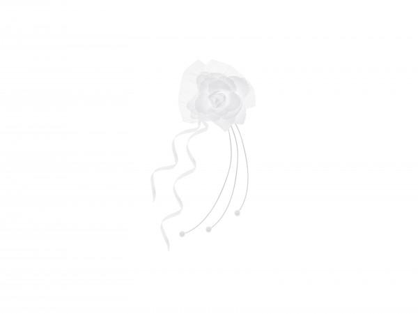 Paris Dekorace Ratanová bílá růže na auto