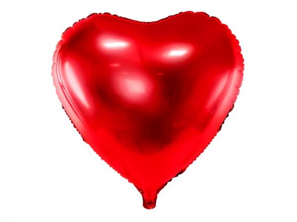 Foliový balónek srdce, červený 61 cm
