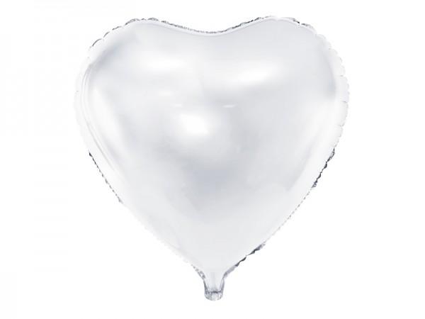 Paris Dekorace Foliový balónek srdce, bílý 61 cm