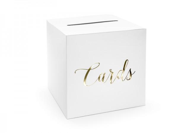 Paris Dekorace Svatební box na blahopřání se zlatým nápisem