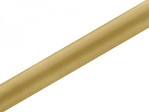 Paris Dekorace Satén v roli zlatý, šířka 36 cm, návin 9 m