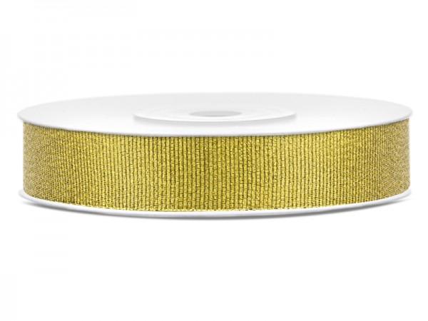 Paris Dekorace Stuha brokátová zlatá, šířka 1 cm, návin 9 m