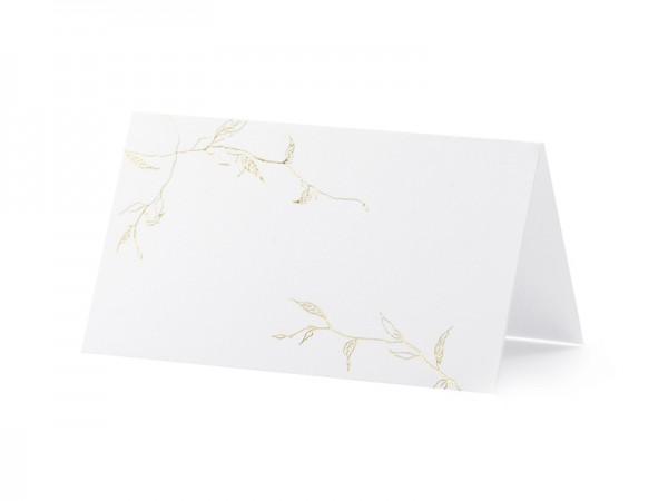 Paris Dekorace Svatební jmenovky na stůl, zlaté větvičky 10 ks v balení