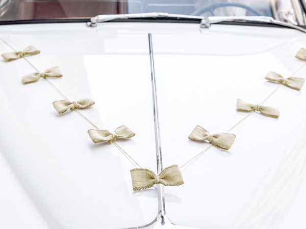 Paris Dekorace Dekorace na auto sada - jutovina